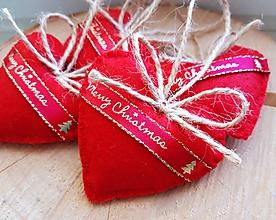 Dekorácie - Malé srdiečka - Merry Christmas II. - 11125141_