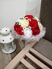 Dekorácie - Kytica ruže - 11123861_