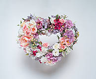 Dekorácie - Kvetinové srdce - 11126143_
