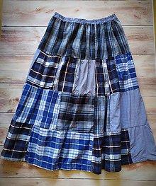 Sukne - Country volànovà sukňa v modrom - 11124470_