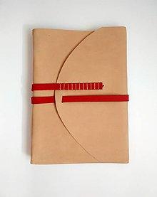 "Papiernictvo - Kožený zápisník ,,Sea sand"" A5 nubuk bledohnedý - 11124189_"