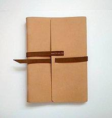 "Papiernictvo - Kožený zápisník ,,Sea sand II"" A5 nubuk bledohnedý - 11124209_"