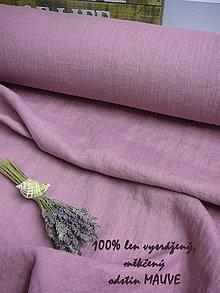 Textil - odstín MAUVE ..100% len metráž - 11125406_