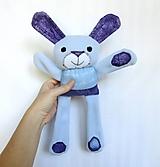 Hračky - Textilné zvieratko - Zajko školáčik - 11123069_
