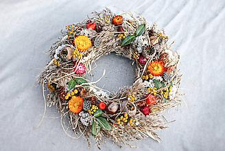 Dekorácie - Jesenný veniec - 11125248_