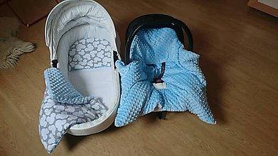 Textil - Set-Fusakodeka do vajíčka aj kočíka, vankúšik a deka do kočíka - 11125861_
