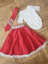 Detská folklórna sukňa s tylovou podšívkou