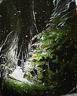Obrazy - osvietený • reprodukcia na plátne - 11124629_