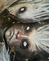 Obrazy - tri lesné grácie • reprodukcia na plátne - 11124703_