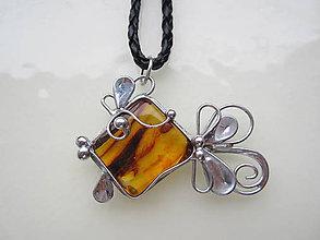 Náhrdelníky - Zlatá rybka - 11125716_