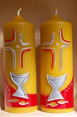 Svietidlá a sviečky - Sviečky z včelieho vosku - oltárne - 11126031_