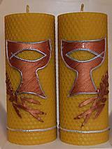 Svietidlá a sviečky - Sviečky z včelieho vosku - oltárne - 11126033_