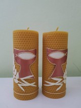 Svietidlá a sviečky - Sviečky z včelieho vosku - oltárne - 11126039_