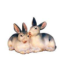 Dekorácie - Zvieratá pre Betlehem – Zajace - 11122515_