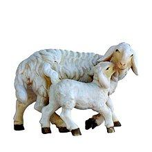 Dekorácie - Zvieratá pre Betlehem – Ovca a jahňa - 11123367_