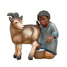 Dekorácie - Pastierik s Kozou - 11124050_