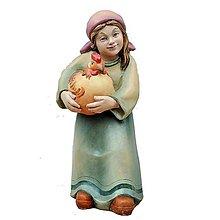 Dekorácie - Pastierka s Sliepkou - 11124146_