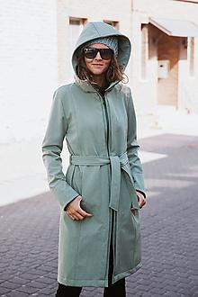 Kabáty - Bunda Olívia mentolová (Zimný softshell) - 11125798_