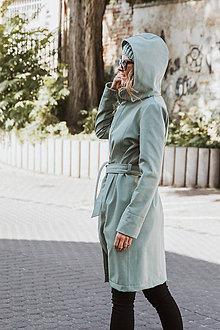 Kabáty - Bunda Olívia mentolová (Zimný softshell) (M - Mentolová) - 11125801_