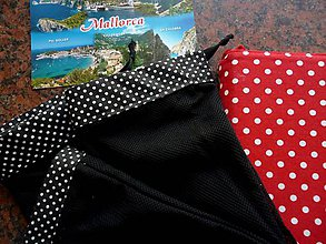 Úžitkový textil - Vrecúška, pytlíky puntíčky - sada 4 ks - 11123982_
