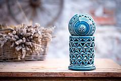 Svietidlá a sviečky - Aromalampa modrá - KVĚT ŽIVOTA - 11123286_