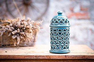 Svietidlá a sviečky - Aromalampa modrá - KVĚT ŽIVOTA - 11123284_