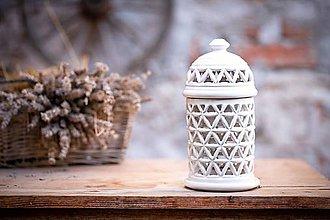 Svietidlá a sviečky - Aromalampa bílá - KVĚT ŽIVOTA - 11123295_