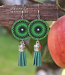 Náušnice - Mandala zelená - 11122533_