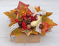 Dekorácie - Jesenná debnička - 11122928_