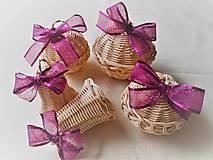 Dekorácie - Vianočná sada s fialovou stuhou - 11124679_