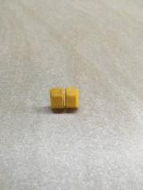 Náušnice - Drevené náušnice  - 11125880_