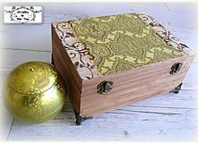 Hlboká krabica s kovovými nohami