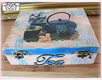 12 priečinková krabica na čajové vrecúska