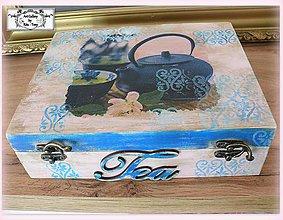 """Krabičky - 12 priečinková krabica na čajové vrecúska """"Tea"""" :) - 11123560_"""