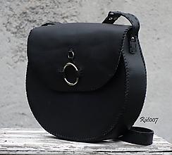 Kabelky - Ručně šitá kožená kabelka - 11125566_