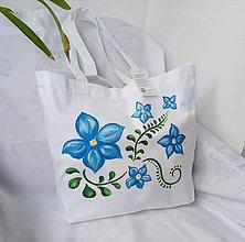 Veľké tašky - Ručne maľovaná taška z bio bavlny - 11125021_