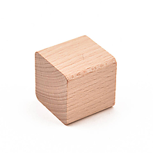 Hračky - Drevená kocka (33x33x33 mm) - sada: 4 kusy - 11123534_