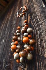 Sady šperkov - Latte macchiato orange sada 2v1 - 11123705_