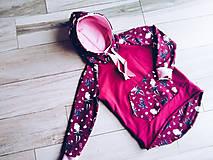 Detské oblečenie - Dievčenská mikina s balerinkami - 11122898_