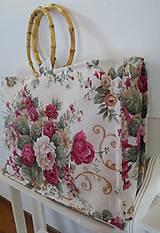 Veľké tašky - Veľká taška do ruky kvetovaná - 11125197_