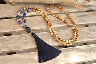 Náhrdelníky - Japa Mala náhrdelník z minerálov jaspis a mix - 11125207_