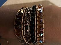Náramky - BRYXI zlatá-čierna - 11122327_