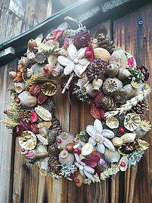 Dekorácie - Jesenný veniec - 11124246_