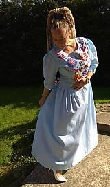 Šaty - Ručne vyšívané šaty - 11123731_