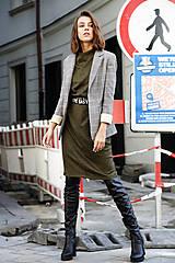 Šaty - Úpletové šaty Mila - 11128718_