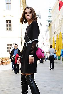 Šaty - Čierne úpletové šaty Colette - 11128399_