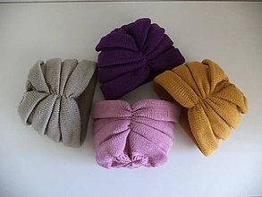 Detské čiapky - Turbanová pletená čiapka pre deti - 11128109_