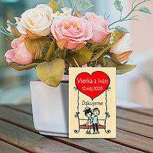 Darčeky pre svadobčanov - Svadobná magnetka - 11128795_