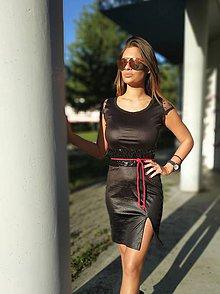 Šaty - Šaty výpredaj čierne z 88 na 65 - 11129244_