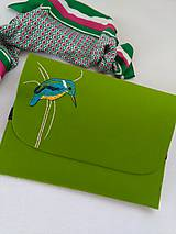 Na notebook - Rybárik (ručne vyšívaná plstená taška) - 11128403_